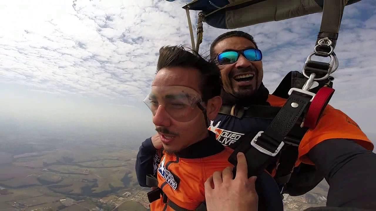 Salto de Paraqueda do Yuri na Queda Livre Paraquedismo 29 07 2016