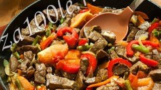 Говяжья печень, жаренная с овощами - Наталья Ким