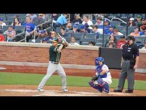 Athletics Josh Reddick Batting Vs Mets 6/24/14 HD