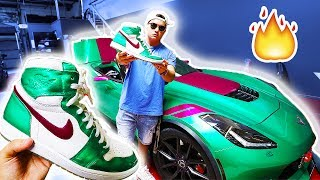 WE CUSTOM CAR WRAPPED A SNEAKER!! (CRAZIEST CUSTOM EVER!!)