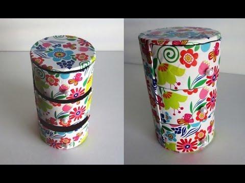 Diy cute mini 3 drawers organizer recycling cardboard for Mini makeup desk