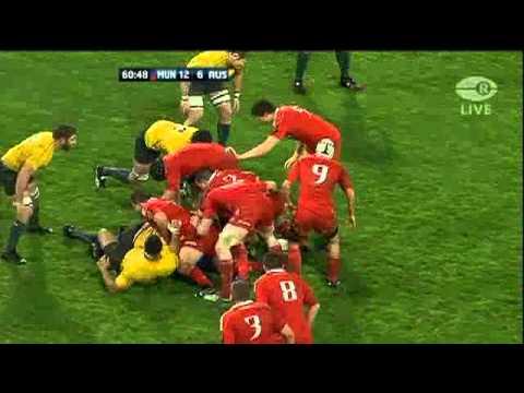 Munster upset Australia 2010