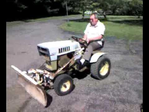 Heavy Sears Garden Tractor running restoration plow ...