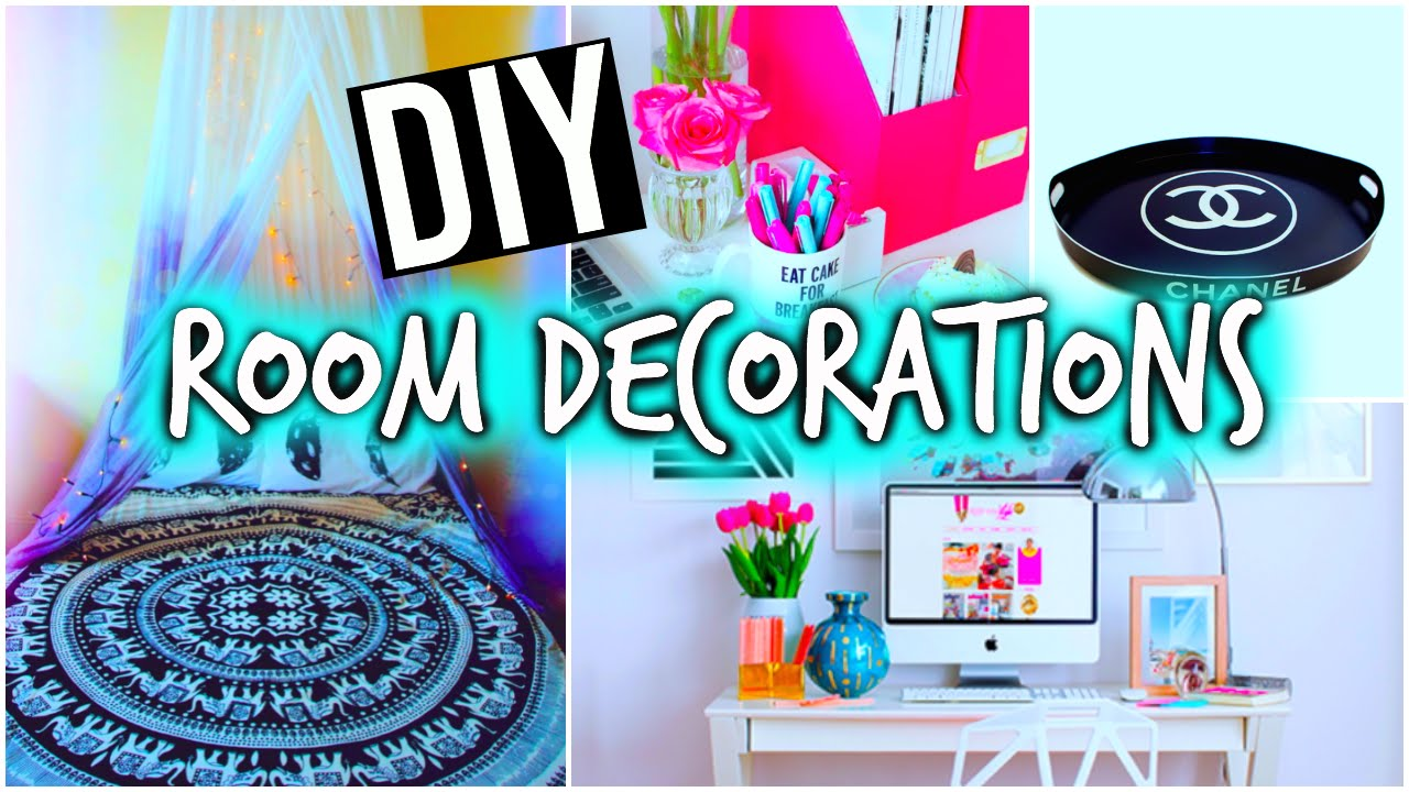 Diy room decorations organization youtube for Diy room decorations youtube
