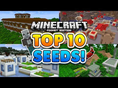 TOP 10 BEST SEEDS for Minecraft Pocket Edition!! (1.2+)