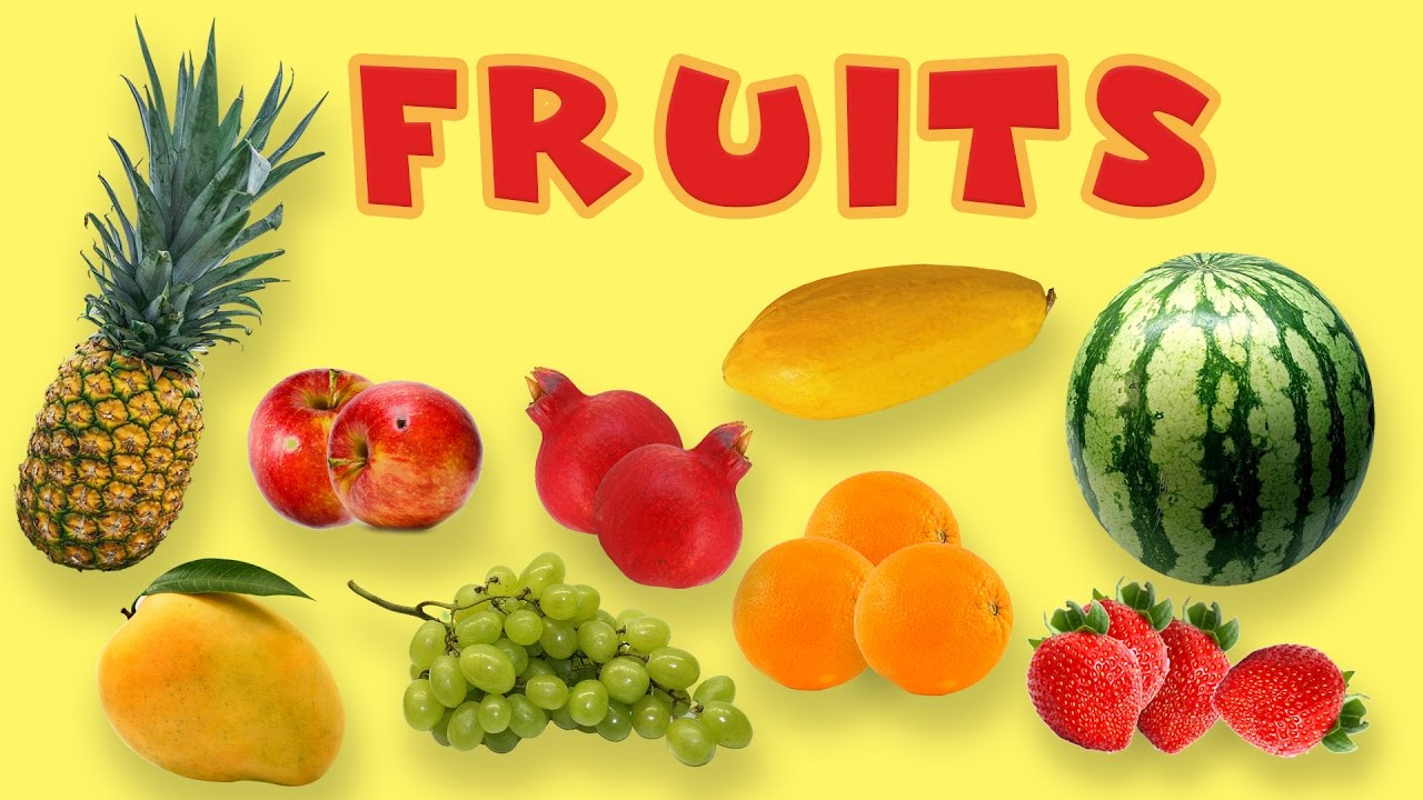 Fruits Rhymes In English Fruits Names With Picture For