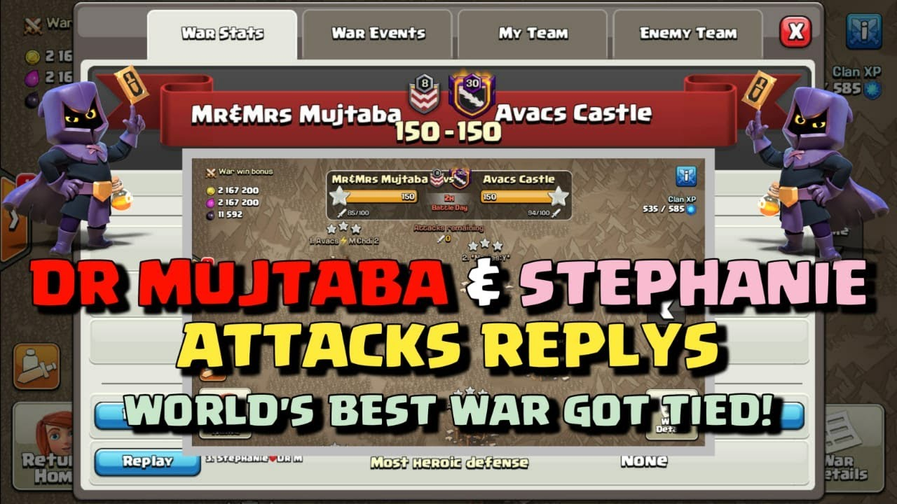 ONE OF BEST WARS OF MR&MRS MUJTABA ❤️ CLASH OF CLANS