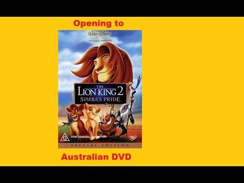 Opening To The Lion King 2 Simba S Pride Australian Dvd Youtube