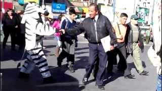 Zebra crossings in La Paz, Bolivia