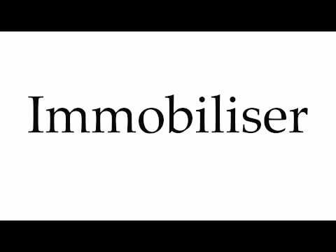 How to Pronounce Immobiliser