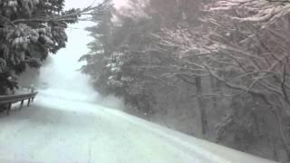 大寒波襲来の雪道やまなみハイウェイをレガシィで走ってみた。 thumbnail