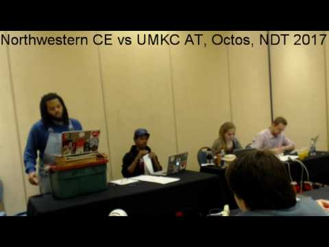 Northwestern CE vs UMKC AT, Octos, NDT 2017