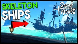 SHIP BATTLES vs SKELETON SHIPS! - *NEW* Cursed Sails Update (Sea of Thieves Part 4)