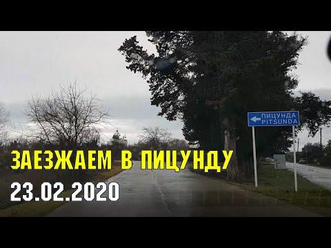 АБХАЗИЯ: заезжаем в Пицунду | Субтропическая зима