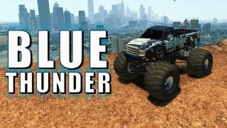 Grand Theft Auto IV - Ford Monster Truck - Blue Thunder (MOD) HD