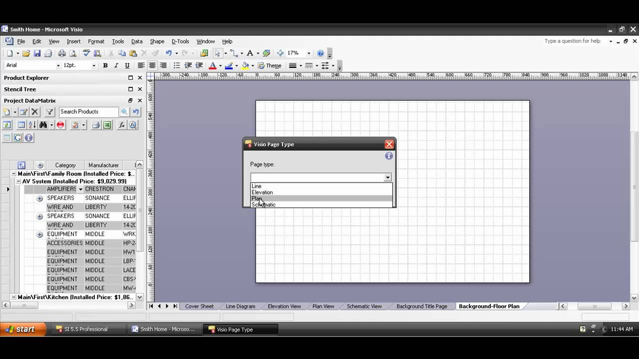 Creating a Visio Plan Drawing YouTube