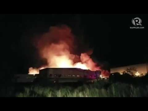 Fire Engulfs HTI Office In Cavite
