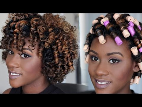 Perm Rod Set Tutorial For Natural Hair Iknowlee Youtube