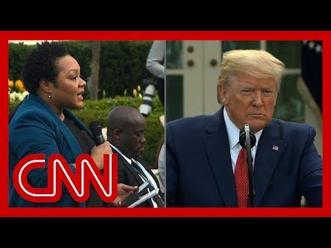 Trump berates reporter