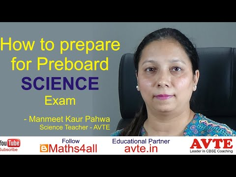 How to Prepare for Science Preboard Exams || Students and Parents Must Watch CBSE || AVTE