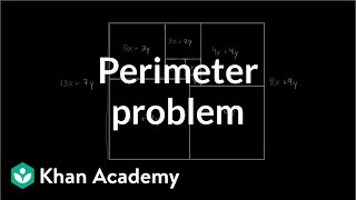 Challenging perimeter problem | Perimeter, area, and volume | Geometry | Khan Academy