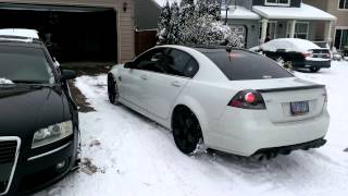 Pontiac G8 GT in the snow part 1