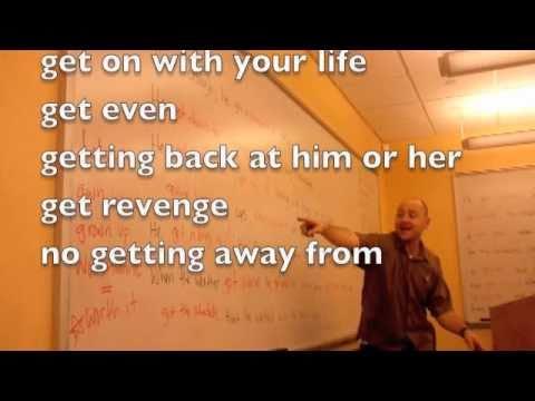 English Get Verb Grammar Idiom Rap Song ColloClass Lesson 10 with Fluency MC!