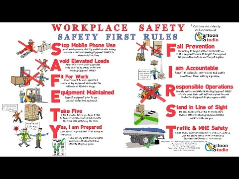 Workplace Safety - whiteboard animation health and safety cartoon