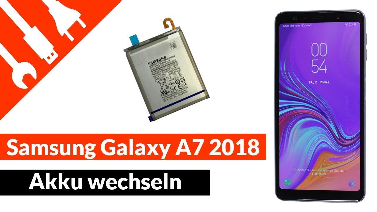 SAMSUNG Galaxy A7 (2018) Akku wechseln / tauschen | kaputt.de - YouTube