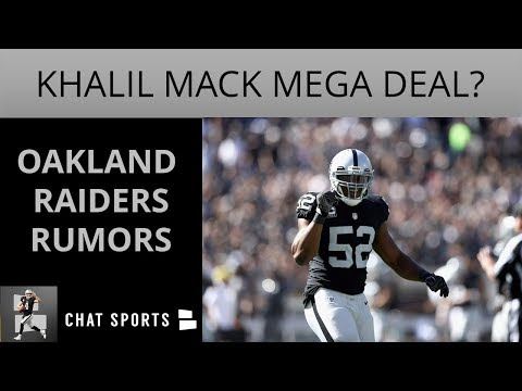 Oakland Raiders Rumors: Khalil Mack Re-Signing For $25MM/Yea
