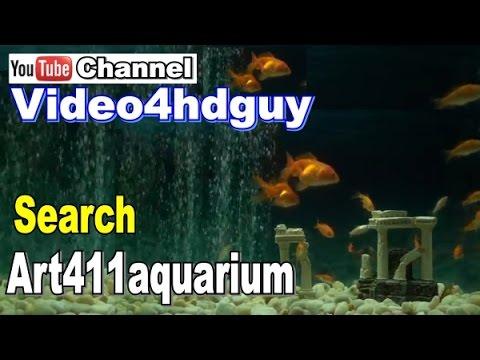 Goldfish Aquarium Screensaver Fish Tank Peaceful Relaxing, Music Sound Video   Art411aquarium™