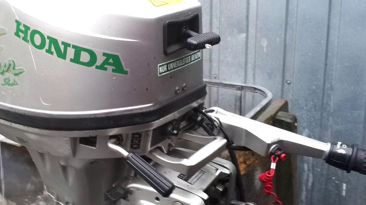 2002 Honda BF 6 hp outboard motor 4-stroke ( 4-SUW ) - YouTube