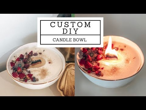 DIY magical candle bowl - YouTube