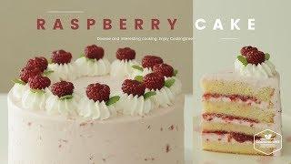 산딸기 생크림 케이크 만들기, 라즈베리 케이크 : Raspberry cake Recipe - Cooking tree 쿠킹트리*Cooking ASMR