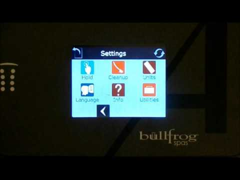 Bullfrog Spa Touch screen pad controller