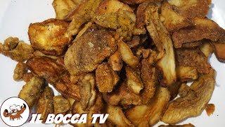 618 - Funghi porcini fritti...c'ho già tutti i peli ritti! (contorno di stagione sfizioso e facile)