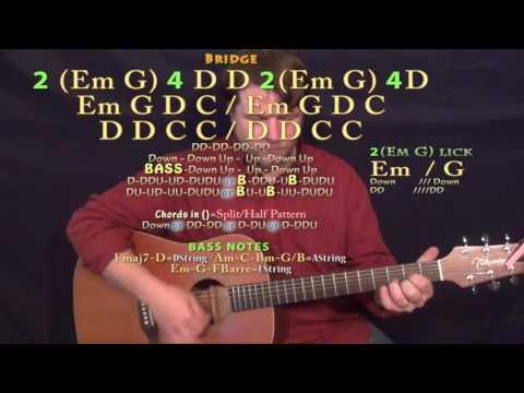 Parachute (Chris Stapleton) Guitar Lesson Chord Chart - Standard Tuning - Double Time