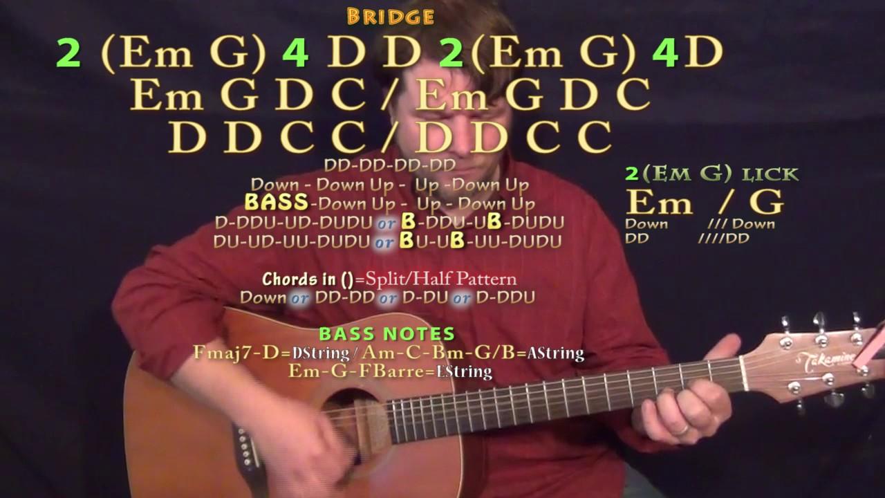 Parachute Chris Stapleton Guitar Lesson Chord Chart Standard