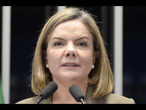 'Querem levar o país para o fundo do poço', diz Gleisi Hoffmann ao condenar medidas do governo Temer