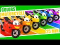LEARN COLORS MOTORCYCLE | MOTORBIKE | Color Rainbow | Kids Babies Colors
