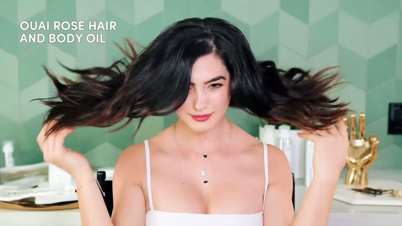 dirty hair style ideas - OUAI hair tutorial