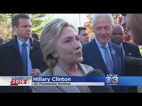 Hillary Clinton Casts Her Vote In Chappaqua, NY