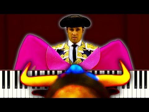TOREADOR SONG (Overture from Carmen) - Piano Tutorial