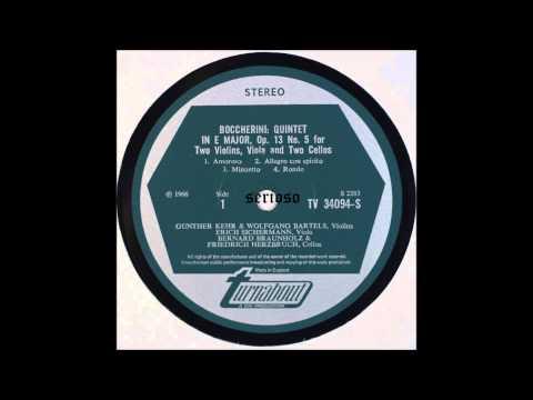 Boccherini String Quintet Op 13 No 5