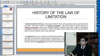 LBA Lecture: Law of Limitation by Shahab Qutub AHC CORRECTED