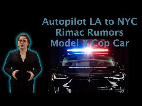 Autopilot LA to NYC, Rimac Specs, Police Model X-  TEN Episode 197