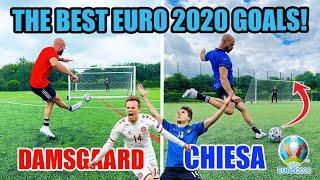 RECREATING EURO 2020 GOALS! Damsgaard, Chiesa, Jorginho & more!