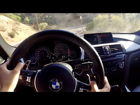 Driving the BMW M3 FLAT OUT in the CANYONS (POV)