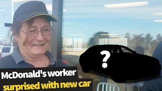 McDonald's worker is surprised with new car from kind-hearted customer