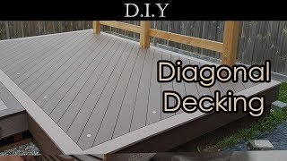 DIY Deck (Part 11): How to install diagonal decking using Azek PVC boards like a pro?